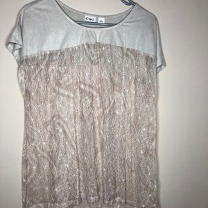 Taupe top lace top large Cato